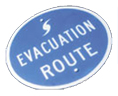DEVACAPS Hurricane Evacuation Sign